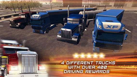 application 3d trucker driving and parking simulator sur ipad iphone et android. Black Bedroom Furniture Sets. Home Design Ideas