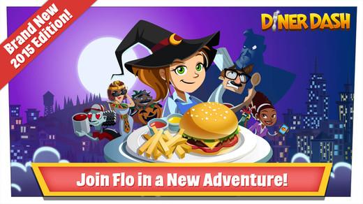 application diner dash 2015 sur ipad, iphone et android